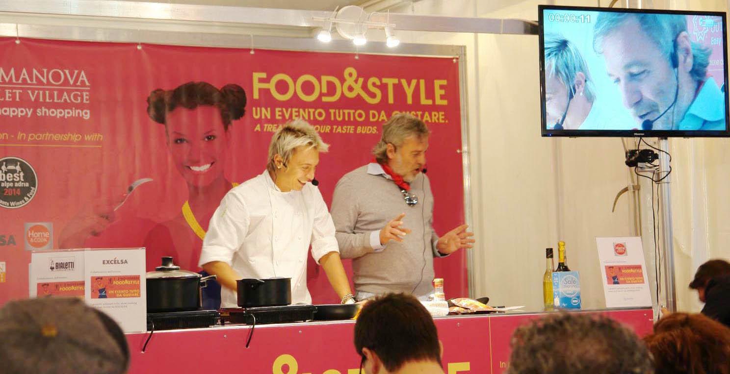 Potocnik Maurizio e lo chef Andrea Mainardi