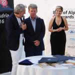 Maurizio Potocnik con gioacchino Bonsignore TG 5 Gusto a Best of alpe adria awards 2016 2