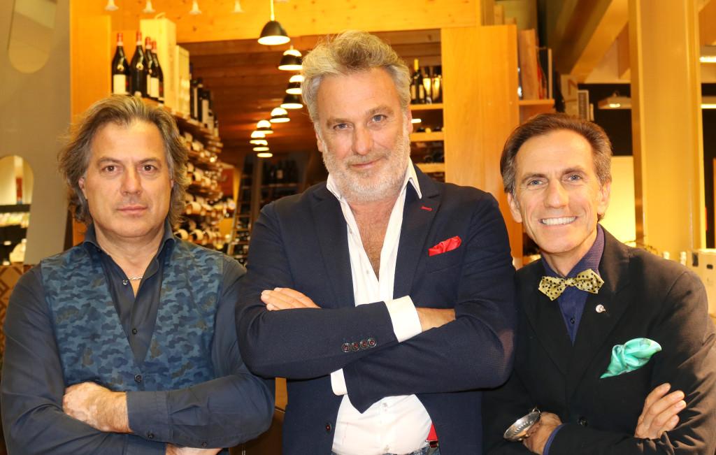 Maurizio Potocnik chef Tino Vettorello e Wladimiro Gobbo Alpe Adria Cooking Show trasmissione televisiva