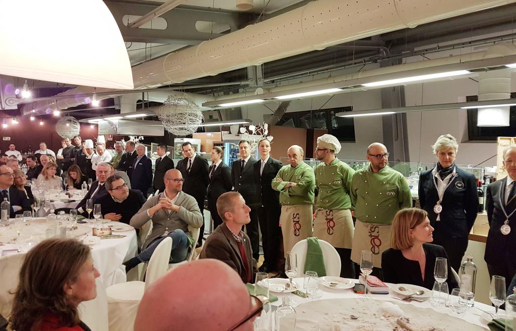 brigata alla cena di gala dell'Alpe Adria BEST GOURMET 2017