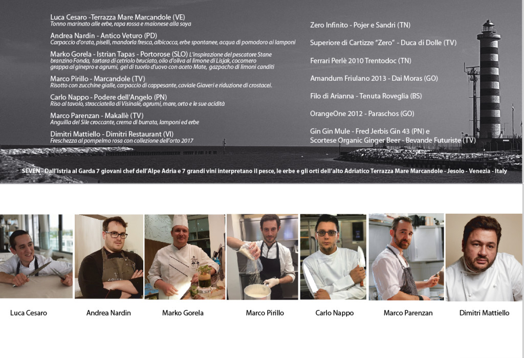 Menù SEVEN YOUNG CHEF  Of  ALPE ADRIA 2017