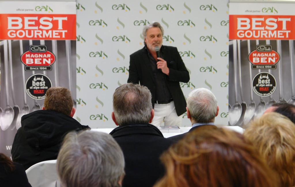 Maurizio Potocnik editore e critico enogastronomico fondatore della guida e del premio internazione Best of Alpe Adria