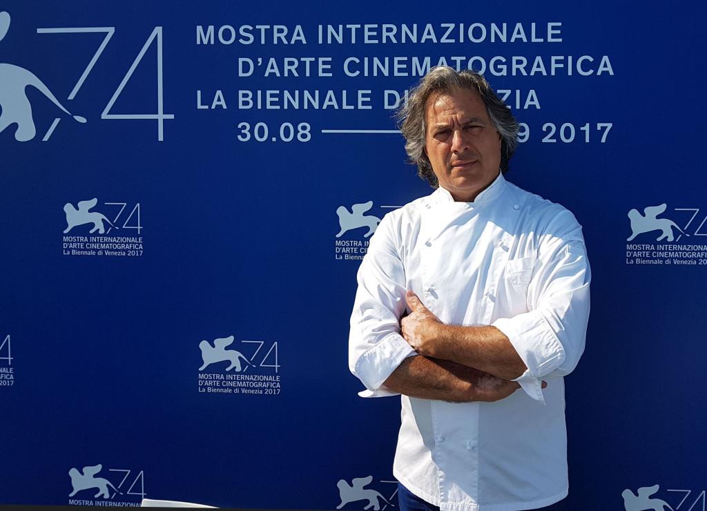 Lo chef Tino Vettorello alla 74° Mostra del Cinema internazionale di Venezia